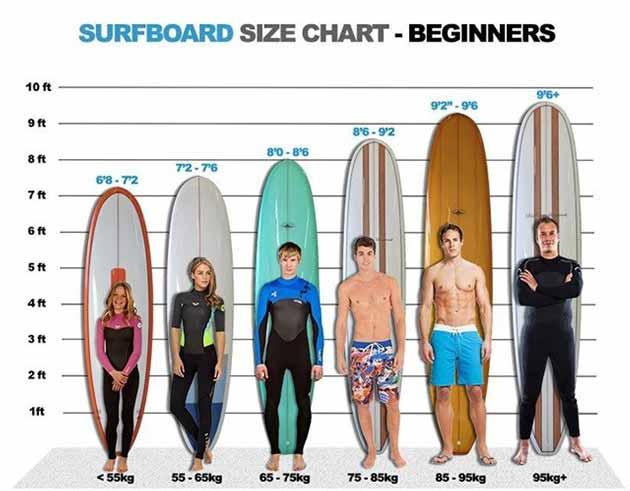 Beginner surfboard size