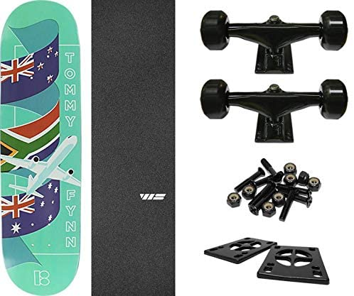 "Plan B Skateboards Tommy Fynn Traveler Skateboard Deck - 8"" x 31.75"" with Components - Bundle of 6 Items"