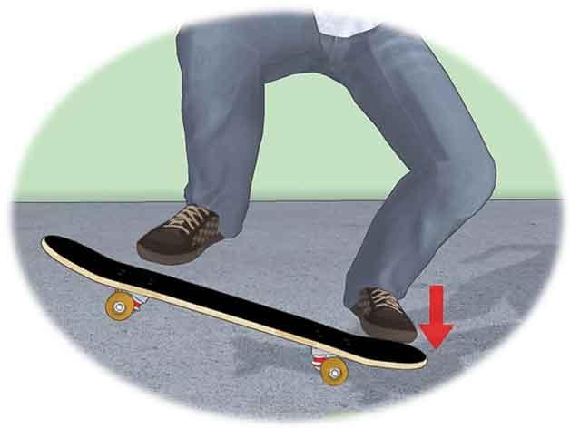 The-second-step-of-old-school-kickflip