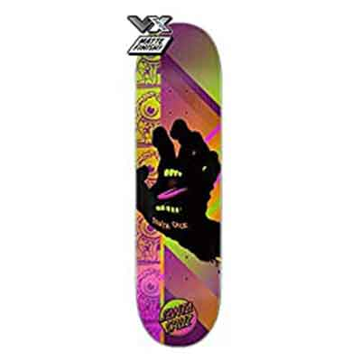 .Santa Cruz Skateboard Deck VX Afterglow Hand 8.0″ Quad X Technology
