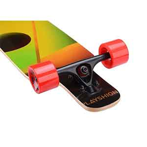 Playshion 39 inch drop through longboard an on budget longboard on the market and it has a best quality trucks to make your ride comfortable.