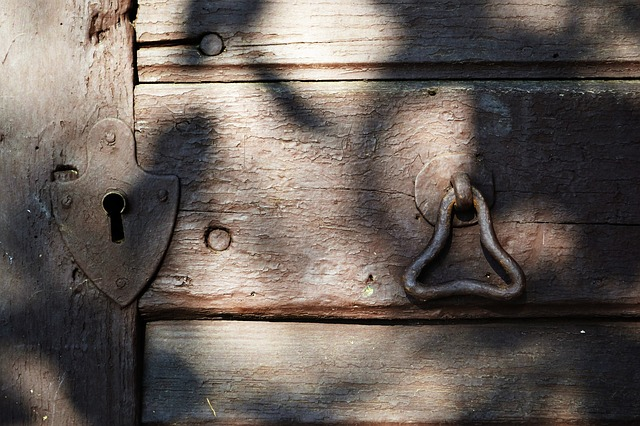 Alte Holz kellertür