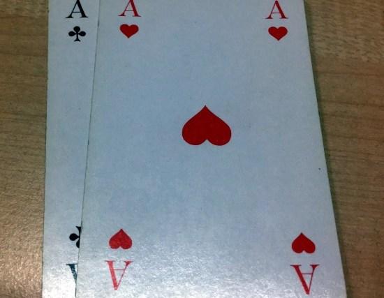 Beim Grand spielt man Asse, oder man soll's lasse