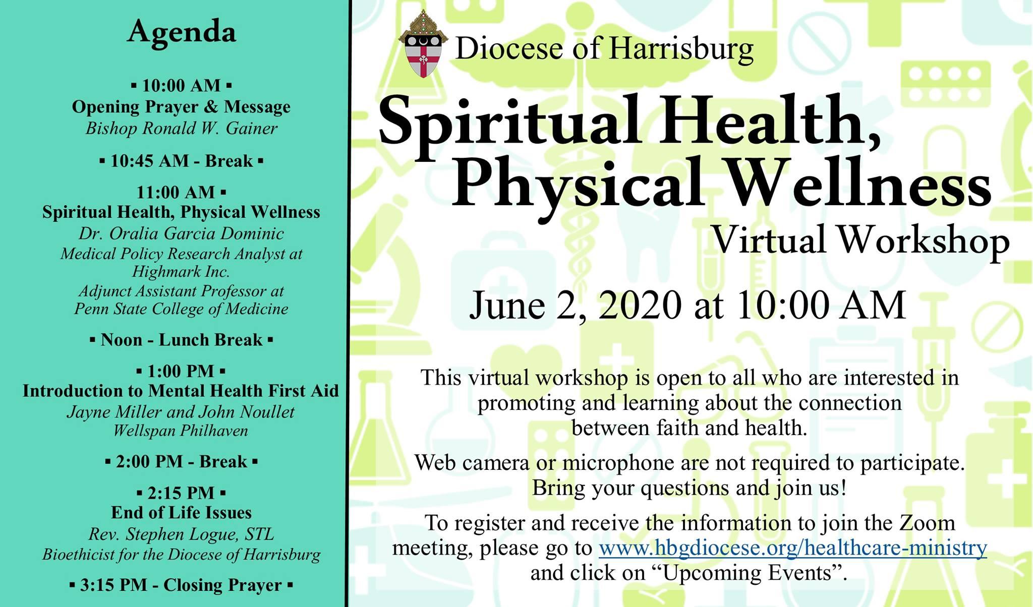Spiritual Health Physical Wellness Virtual Workshop