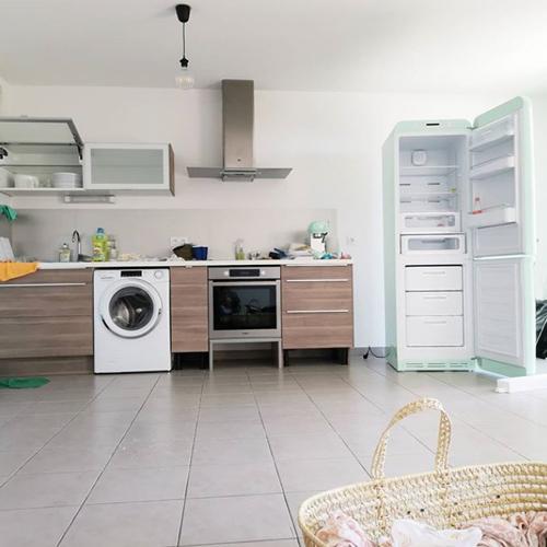 Photo de ma cuisine lors de mon aménagement à Montpellier.