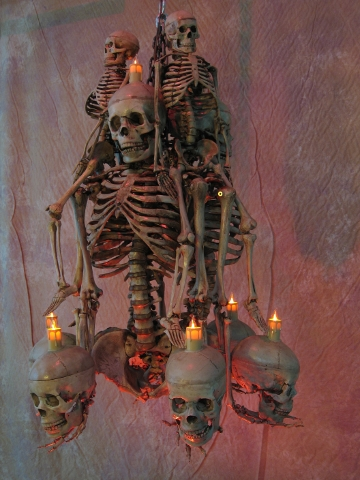 Life Size Skeleton Chandelier