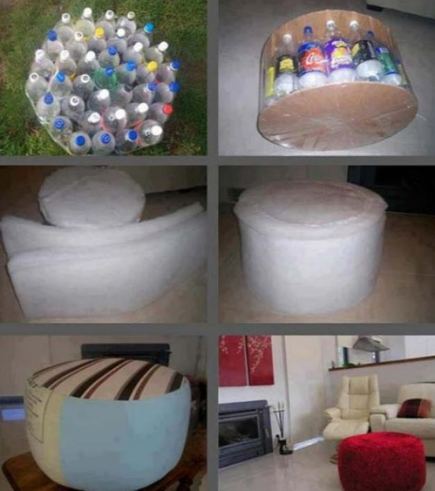 Soda Bottles Stool