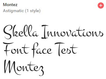 montez google font