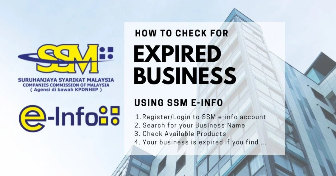 how to check if your SSM registered business is expired or terminated