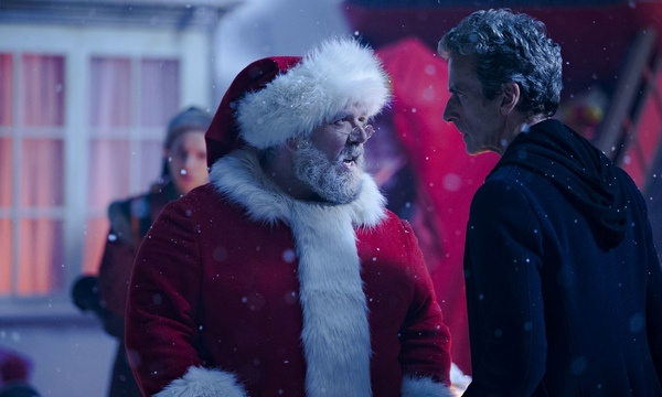 Nick Frost as Santa Claus and Peter Capaldi as the Doctor in the Doctor Who Christmas special