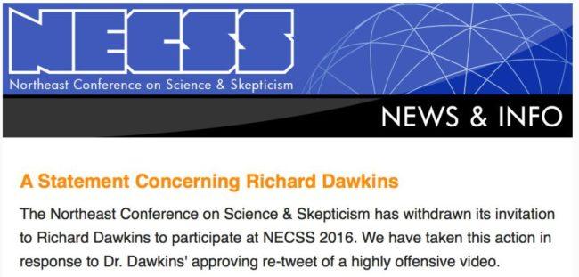 Richard Dawkins NECSS