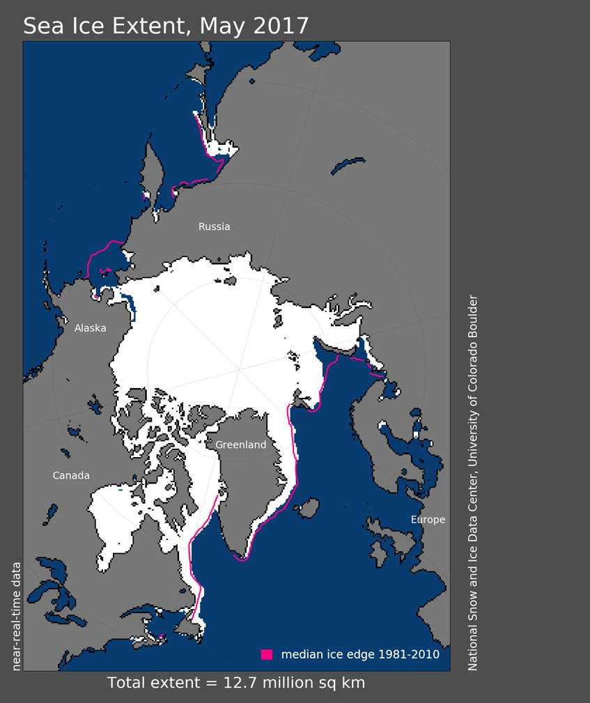 Arctic Sea Ice – Update for May 2017