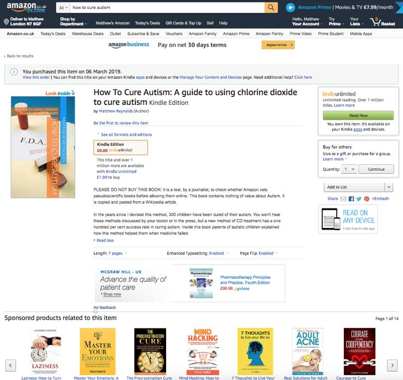 Skepticism Surrounds Autism Drug Given >> Fake Autism Cures On Amazon Skeptical Science