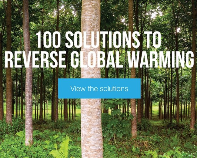 Drawdown climate change solutions