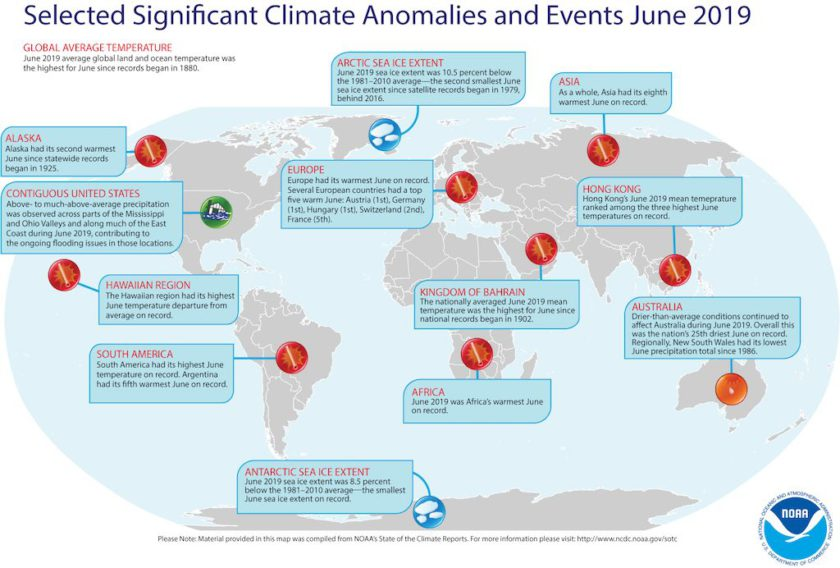 June 2019 Global Climate Report