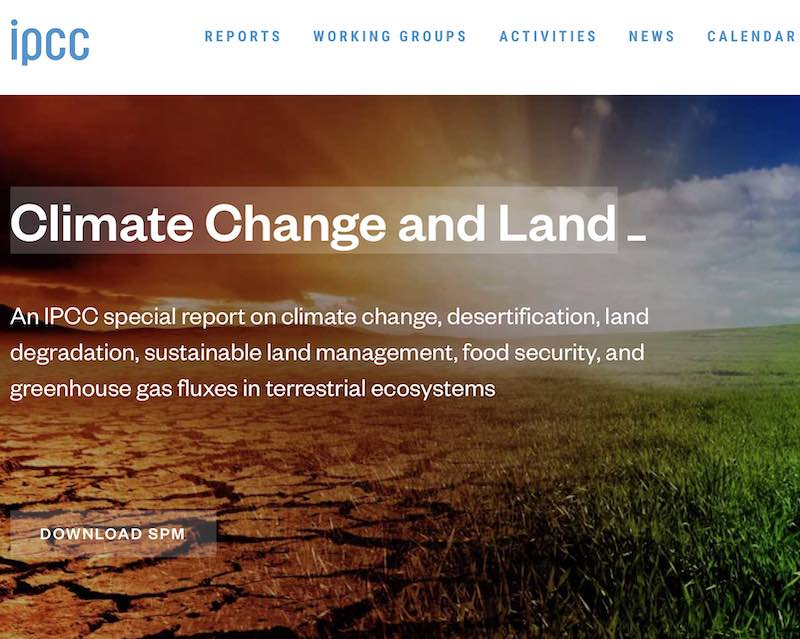 IPCC Report - Climate Change and Land