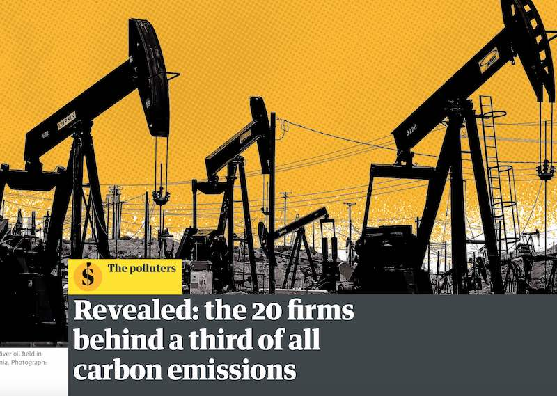 Guardian runs story on CO2 Carbon emissions
