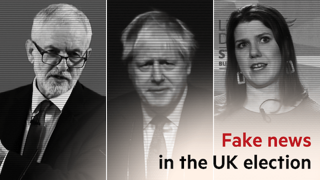 fake news in the UK election