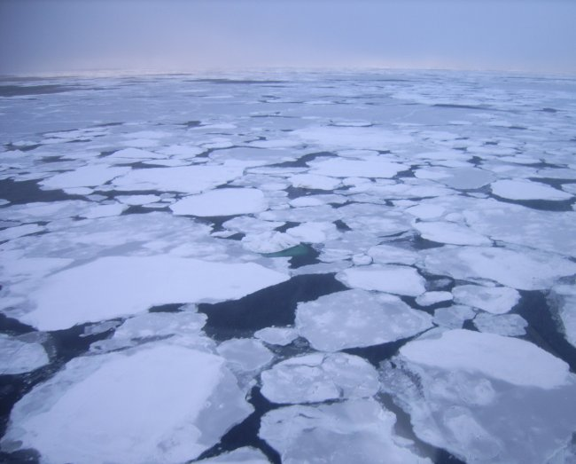 laptev sea ice in the arctic over siberia