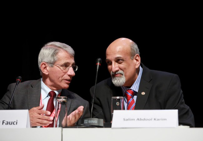 2020 John Maddox Prize Winners - Anthony Fauci and Salim S. Abdool Karim