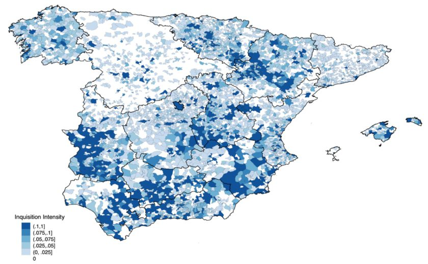 Areas impacted by Spanish Inquisition persecution