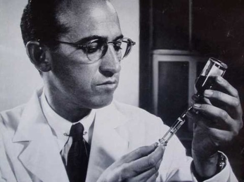 Jonas Salk, hero of the war against preventable diseases.