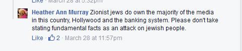 racist Facebook troll's anti-semitism