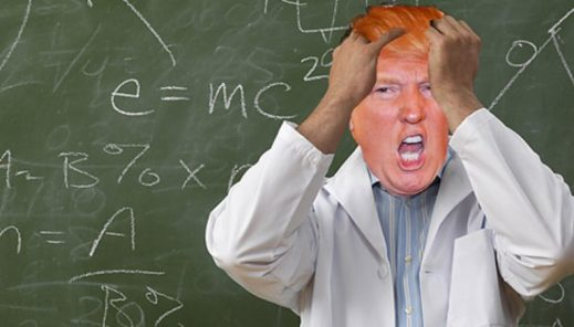antiscience donald trump doesn't know science