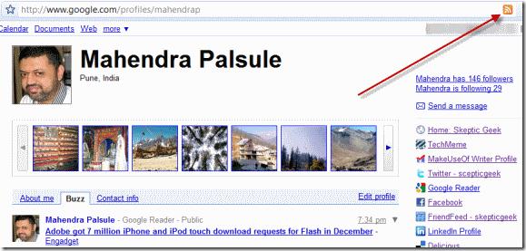 Google Profile RSS