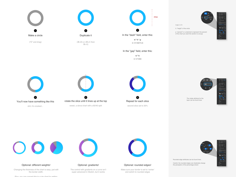 How To Design Donut Charts Tutorial File Sketch Freebie Download Free Resource For Sketch Sketch App Sources