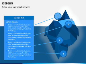 Iceberg PowerPoint Template | SketchBubble