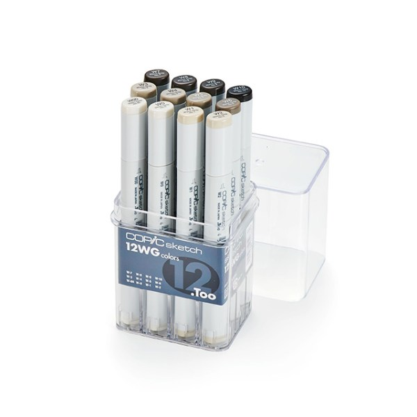 Copic Sketch Markers Warm Gray Set