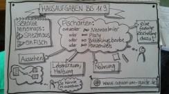 Hausaufgaben in Form von Sketchnotes einer Lehrerin