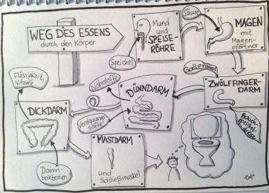Sketchnote die Wege des Essens