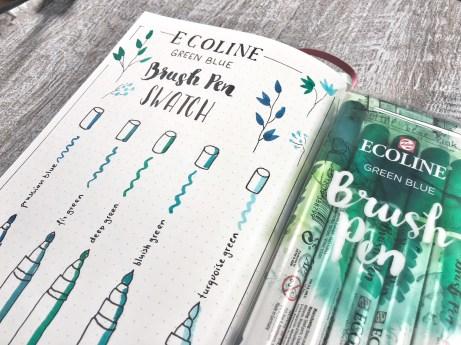 Ecoline Farbset: green/blue