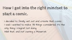 mindset for making comics