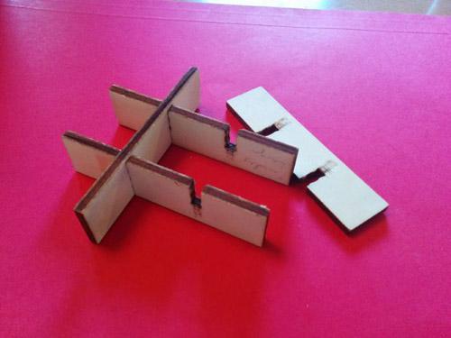 3D Create glue-less interlocking laser cut parts with sketchup slicemodelerl