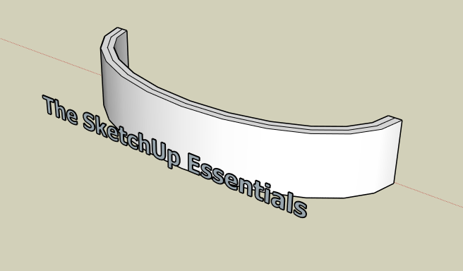How to Create Curved Extruded Letters on a Curved Sign in SketchUp without Plugins