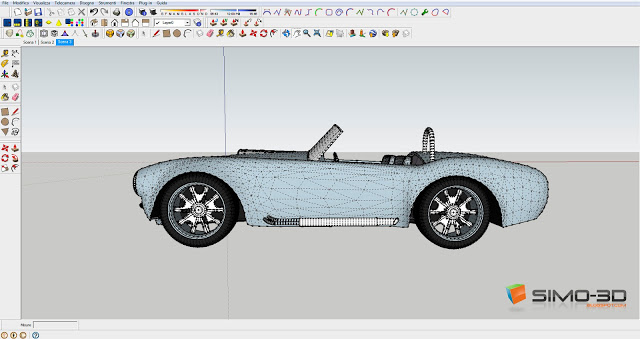 Shaping a shelby with Sketchup
