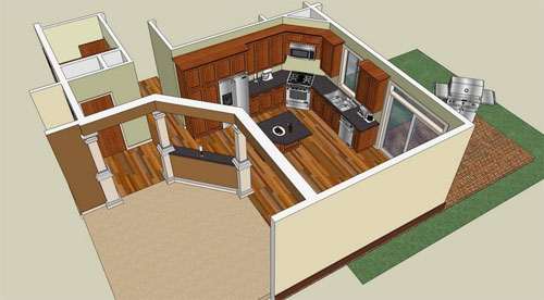 Sketchup, a 3D modeling software, aids in making interior designs, films, civil and mechanical engineering works, designing video games and for architectural applications.