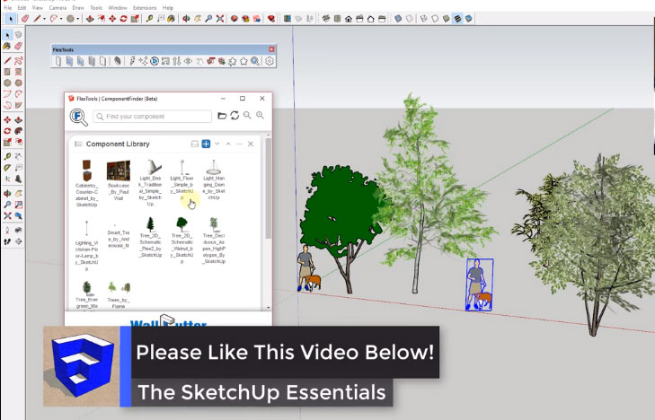 sketchup save component library