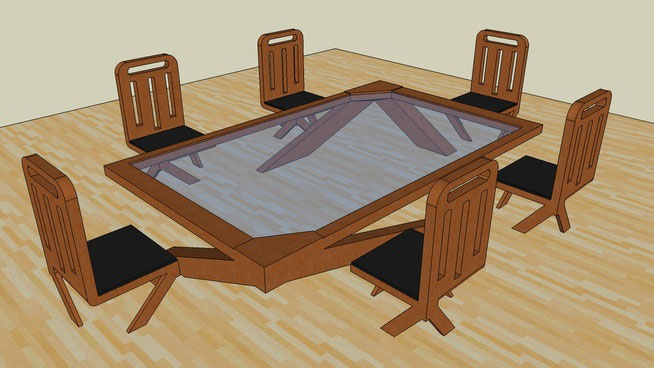 Sketchup Components 3d Warehouse Dining Table With Chairs