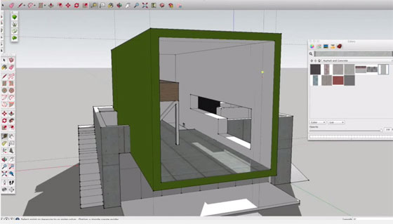 modern house with sketchup