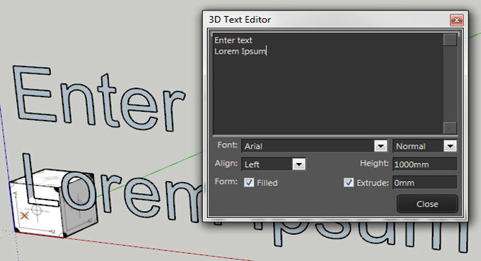 3D Text Editor – The newest sketchup extension