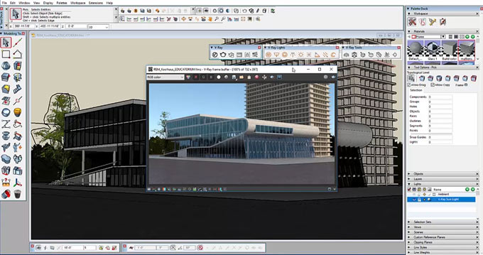 AutoDesSys's formZ is now integrated with V-ray rendering technology