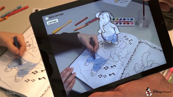 Disney has developed an augmented reality coloring book App