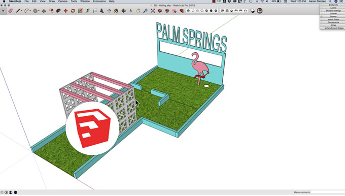 How to resolve the issue while modeling in groups & components in sketchup