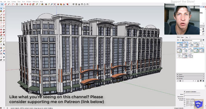 How to use SketchFX to apply layering styles in a sketchup model