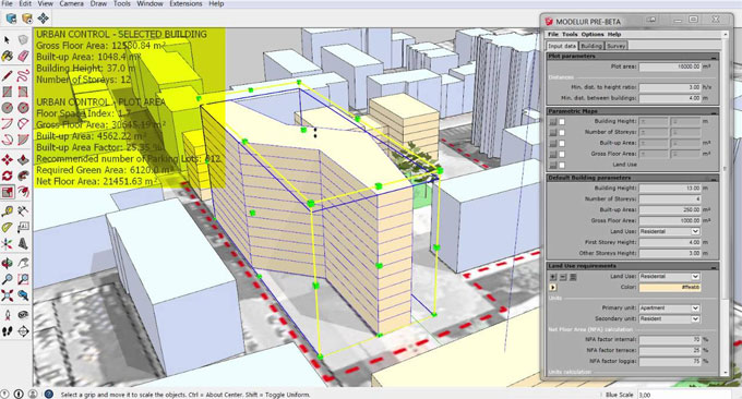 MODELUR for parametric urban design v2018.1_RC2