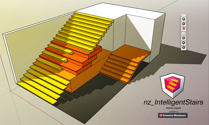 nz_IntelligentStairs – The newest sketchup pluign